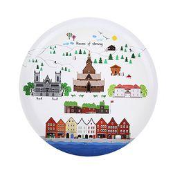 Houses of Norway 우드트레이 38cm (라운드 화이트)