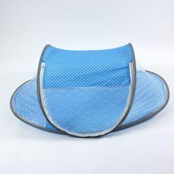 유아용 원터치 휴대용 도트 모기장 블루 110x60x43