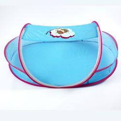 유아용 원터치 휴대용 모기장 대형 블루 116x70x41