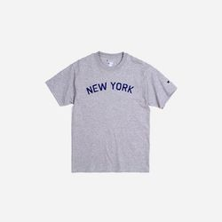 Champion USA Crew Neck T-shirt NEW YORK grey
