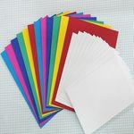 머메이드지 카드 만들기 6색 12장-봉투 포함