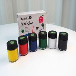 [맘아트] 직물용염색물감(Fabric Ink)30ml 6색-기본색