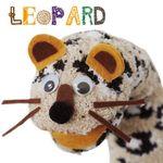 양말 손인형(sock puppet) 만들기 - 표범