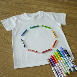 반팔면티(30수 라운드 백색) - 어린이용