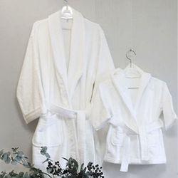 Premium White Cotton Bath Robe - baby