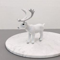 White Animal 장식인형-Deer(소)