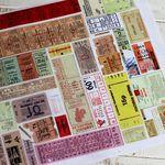 빈티지 티켓 1900 -라벨-스티커-패턴지
