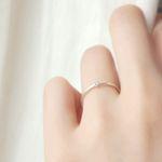 천연 러프 다이아몬드 Promise ring (4월 탄생석)