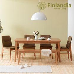 핀란디아 오스턴 6인식탁세트(의자4롱벤치1)