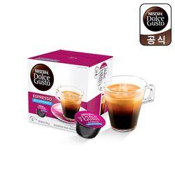 돌체구스토 캡슐 커피 에스프레소 디카페인 16캡슐