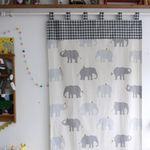 코끼리 광목 커튼