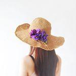 낭만 속 엘리제- 퍼플 인 썸머 flower hat