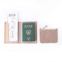 CONFEITO WING PASSPORT WALLET - KAKI GRAY (SET)