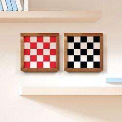 [인테리어액자] 체스 (15x15cm) 북유럽패턴