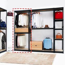 보비쥬S 베리 700 A형 1단서랍 드레스룸행거세트(착불