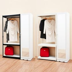 보비쥬S 베리 1200 D형 거울장+드레스룸행거세트(착불