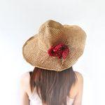 낭만 속 엘리제- 레드 인 썸머 flower hat