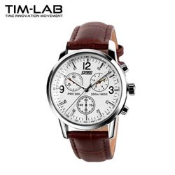 [TIM-LAB]남성 패션시계 가죽메탈시계 손목시계 9070