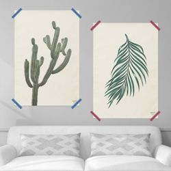 보테니컬 패브릭 포스터 액자. 식물 포스터(스몰)