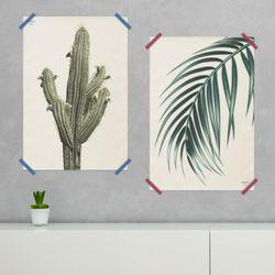 보테니컬 패브릭 포스터 액자. 식물 포스터(미디움)