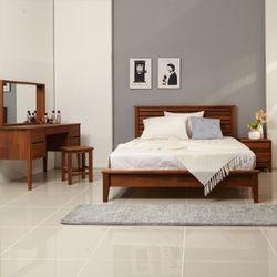밸런스가구 피카 멀바우 원목 수퍼싱글 침대