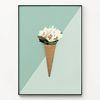 메탈 꽃 식물 액자 아이스크림 플라워 ver1 [대형]