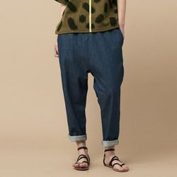 BAGGY DENIM PANTS-INDIGO