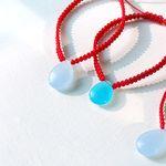 연못 위 행운의 돌고래/칼세도니 bracelet (2 colors)