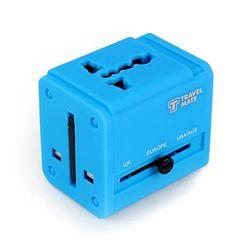 잭큐브 멀티아답터 USB 2포트(ADT-100) - 블루
