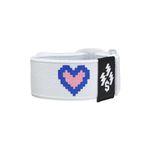 PIXEL HEART BRACELET-WHITE
