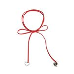 Love ribbon choker - red