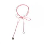 Love ribbon choker - indi pink