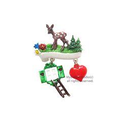 [Mybutton]Bambi with Charms.밤비의 정원 동화브로치