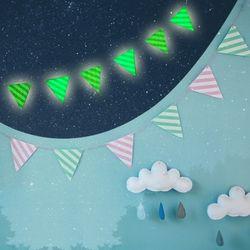 파티 야광깃발 가랜드(6p)