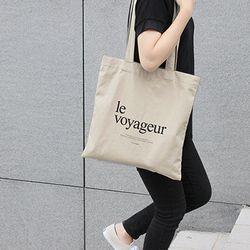 le voyageureco bag (BEIGE)