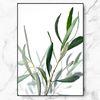 북유럽 인테리어 식물 액자 올리브 리프 메탈 중형