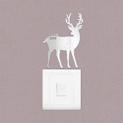 Turn off deer 스위치 아크릴 스티커