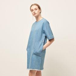 [MOHAN] DENIM SHORT DRESS SKY
