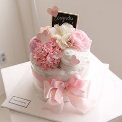 꽃이피는 1단 담요케익 (핑크)