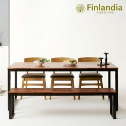 핀란디아 아이린 1800 멀바우 식탁세트