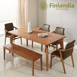 핀란디아 헤르바 6인식탁세트(의자4+벤치1)