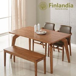 핀란디아 헤르바 4인식탁세트(의자2+벤치1)