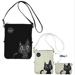 노아패밀리 J-cat 2way 클러치 숄더백(2color)