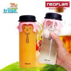 네오플램 트라이탄 원숭이 캐릭터 리보틀 물병 2ea