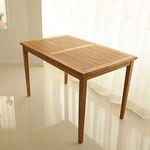 티크 4인 슬랫 식탁  테이블