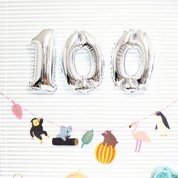 100 DAY 은박 풍선