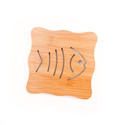 우드 물고기 냄비받침