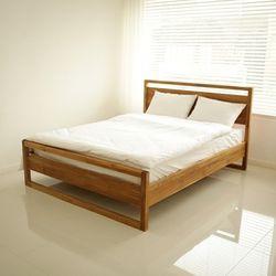 티크 골든 퀸 침대