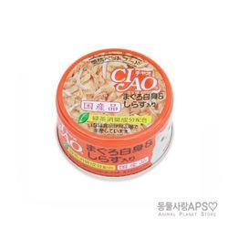 CIAO 차오 화이티 참치흰살+치어 캔 85g(A-02)