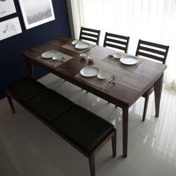 밸런스가구 클린트 호두나무 원목 6인 식탁세트